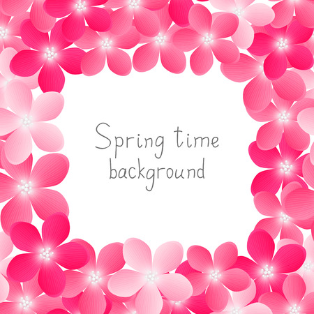 place for text: Spring background with place for text