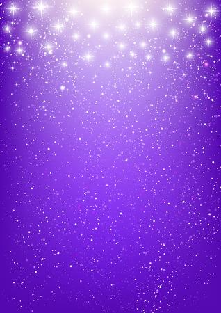紫色の背景に光沢がある星