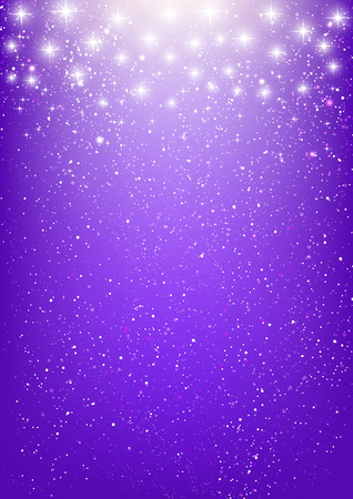 Shiny stars on purple background