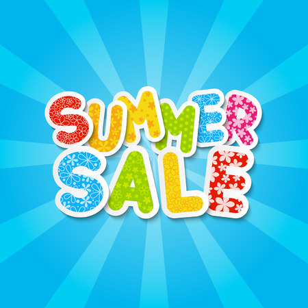 Paper summer sale message for Your design