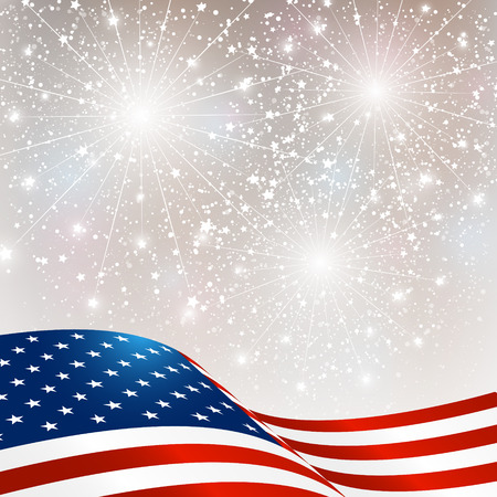 Independence Day card with American flag