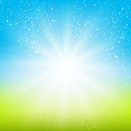 blue and green: Shiny light background for Your design Illustration