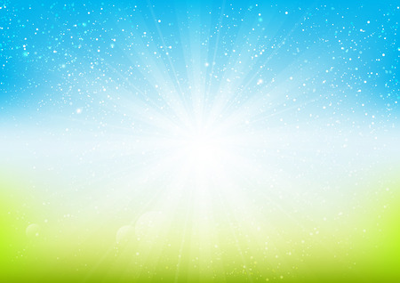 Shiny Licht auf blauem Hintergrund