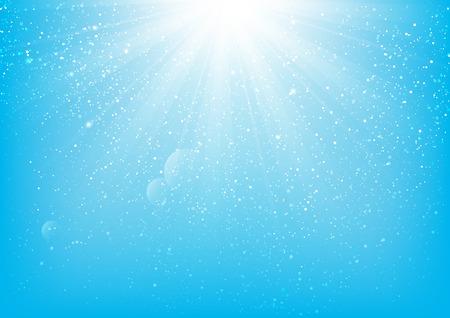 shiny background: Shiny light on blue background