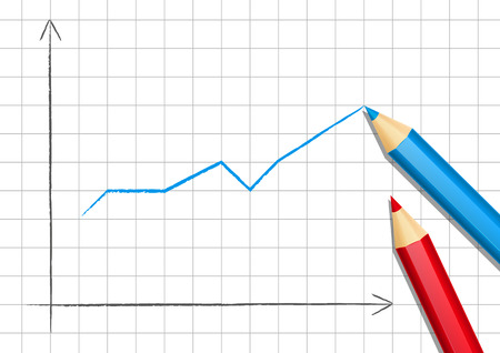 Positive graph for Your design Vector