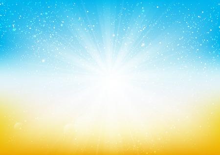 shiny background: Shiny light on blue and orange background