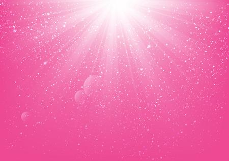 Shiny light on pink background Vettoriali