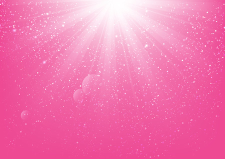 Shiny light on pink background Illustration