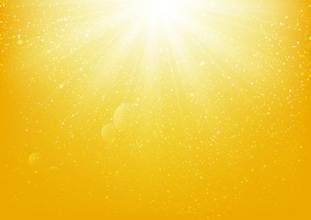 노란색 배경에 반짝이 빛 일러스트