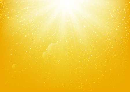 Shiny light on yellow background Illustration