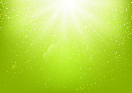 Shiny light on green background