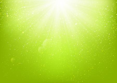 Shiny light on green background