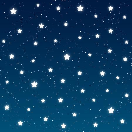 あなたの設計のための星明かりの夜背景