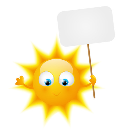 plate: Cartoon Sun with paper plate Illustration