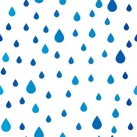 雨の滴をシームレスなパターン