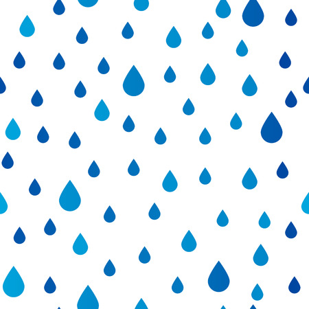 Seamless pattern with rain drops Illustration