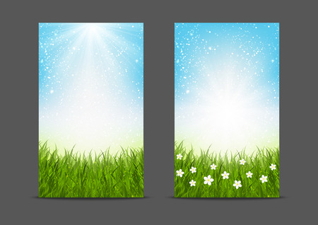 flower banner: Natural banners 240x400 size
