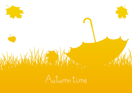 place for your text: Autumn background with place for Your text