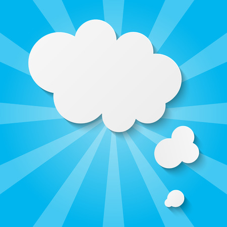blue clouds: Paper clouds on blue background
