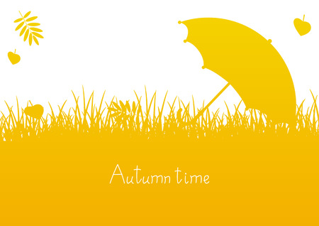 color image: Autumn background with place for Your text
