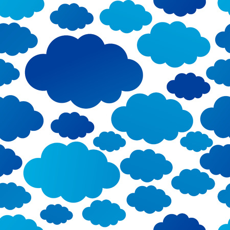 blue clouds: Seamless pattern with blue clouds