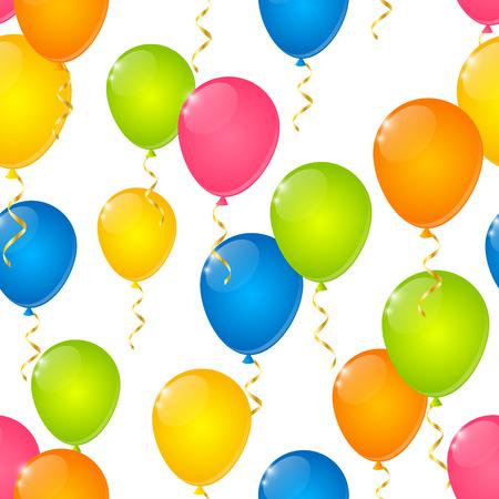 alegria: Modelo inconsútil con los globos del color