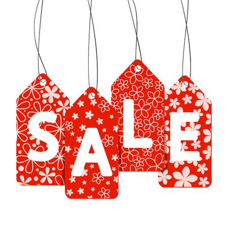 label tag: Sale message on white background Illustration