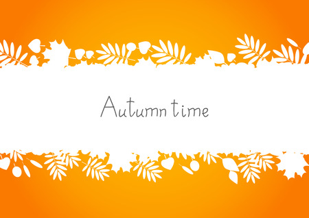 background herfst: Herfst achtergrond voor uw ontwerp Stock Illustratie