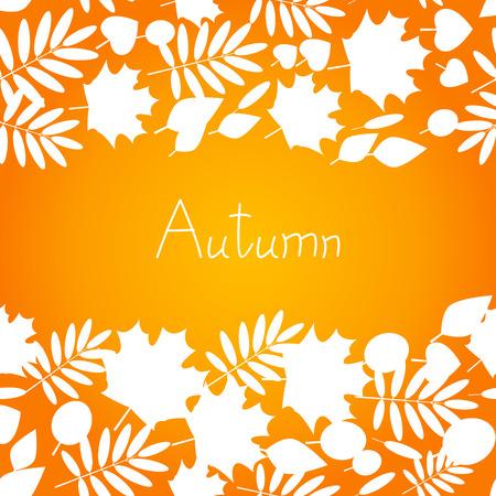 orange trees: Autumn background for Your design