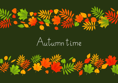 fall leaves: Autumn background with color leaves