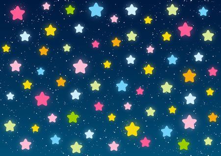 cielo azul: Brillante de las estrellas sobre fondo azul cielo