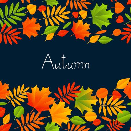 hintergrund herbst: Herbst Hintergrund mit Farbe Bl�tter