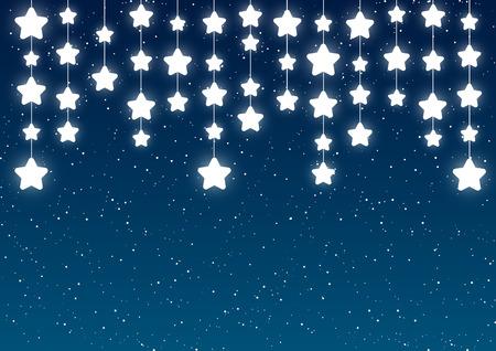 stars  background: Shiny stars on blue sky background
