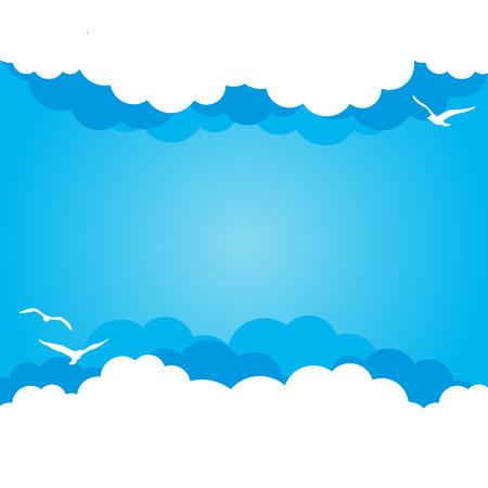 himmel mit wolken: Wolke Hintergrund mit Platz für Ihren Text