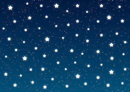 shiny background: Shiny stars on blue sky background