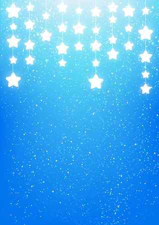 shiny background: Shiny stars on blue background