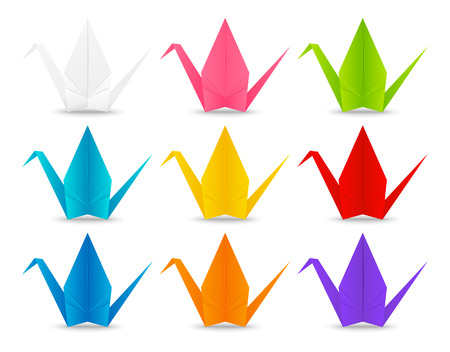 1854 Origami Crane Cliparts Stock Vector And Royalty Free Origami