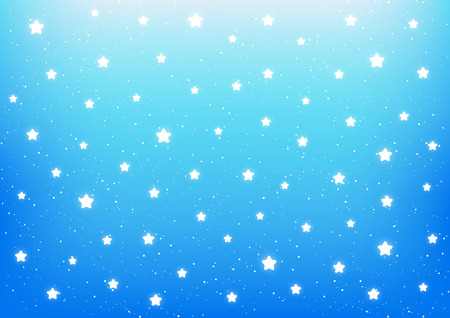 shiny: Shiny stars on blue background