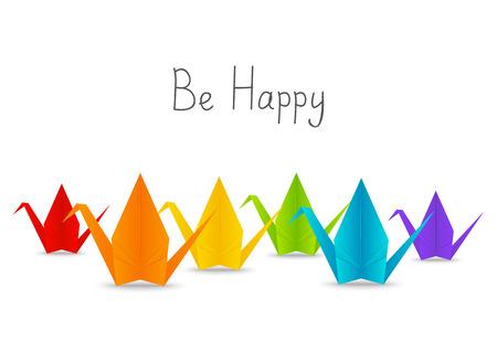 paper origami: Paper origami cranes for Your design