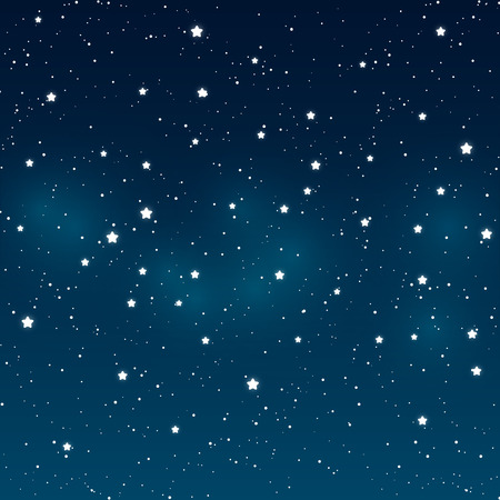 Shiny stars on night sky background Ilustração