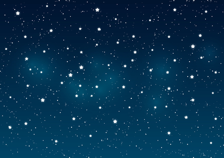 blue stars: Shiny stars on night sky background Illustration