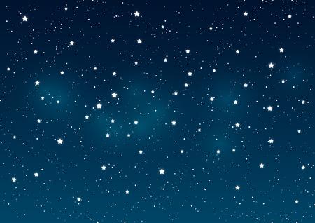 Étoiles brillantes sur fond ciel de la nuit Illustration