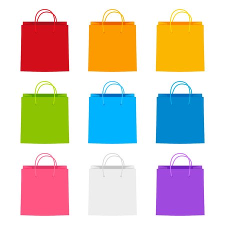 Set of shopping paper bags Ilustrace