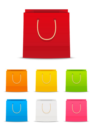 shopping icon: Set of paper shopping bags