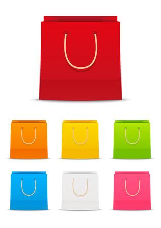 Set van papieren boodschappentassen