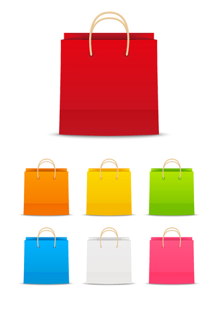 Set of paper shopping bags
