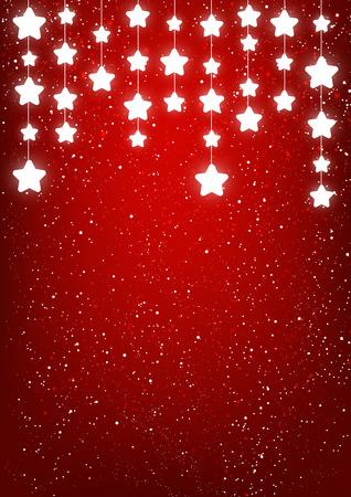 shiny background: Shiny stars on red background Illustration