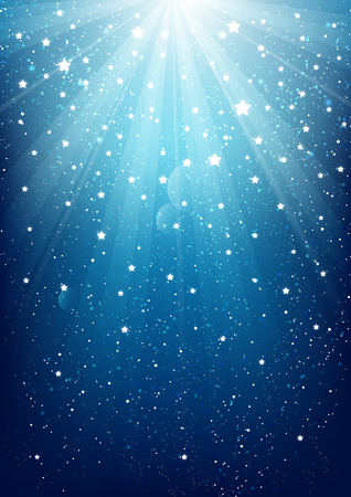 Shiny lights on blue background