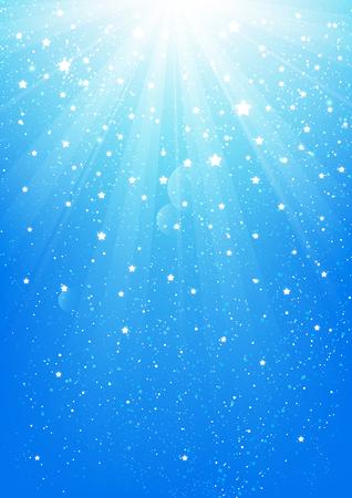 shiny background: Shiny lights on blue background
