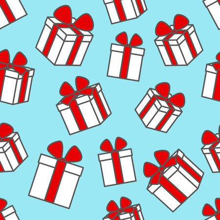 christmas present: Seamless pattern with gift boxes